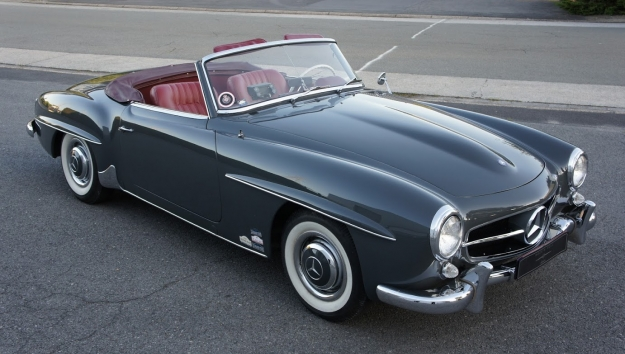SOLD '62 Mercedes-Benz 190SL – original slate grey/red.